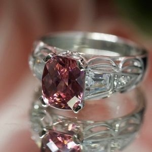 Tacori Cushion Pink Diamonique Engagement Ring